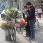 Sequía y venta de flores